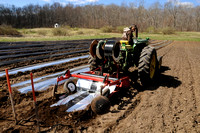 Max laying plastic for onions in Bailey1 field
