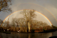 A spectacular rainbow near the farm